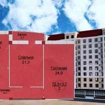 Продаётся двухкомнатная квартира каркас, в Махачкале