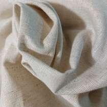 Ткань п/лён п/варёный плотный, натуральный цвет льна, в Иванове
