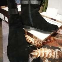 Ботинки женские замша 40-41 р-р цв. черный, в Апрелевке