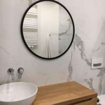 Скандинавское круглое зеркало Svart 70 в тонкой раме, в г.Минск