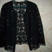 Жакет гипюровый черного цвета, размер 48-50, в г.Петропавловск
