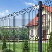 Забор Ограждение 3Д секции Сетка Прайм цинк + эпп, в Саратове