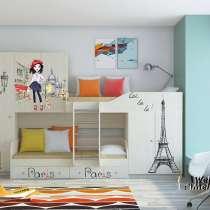 Детская двухъярусная кровать «Лео Принт», в Москве