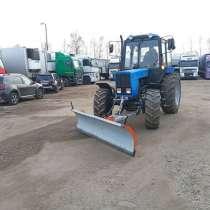 Механизированная уборка территории трактором МТЗ 82, в г.Минск