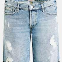 Мужские джинсовые шорты с потертостями, в Перми
