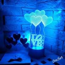 3D светильник шарики сердечки, в Москве