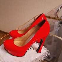 Туфли женские красные, в Долгопрудном