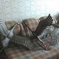 Журавль - скульптура из металла, в Краснодаре