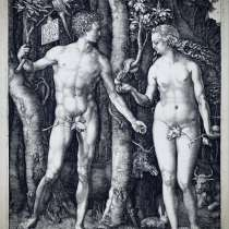 "Obraz. Albrecht Durer ""Adam and Eve"", в г.Познань"