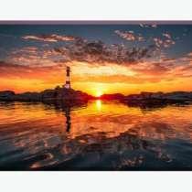 """Картина на холсте """"Восход на маяке"""", в Тольятти"""
