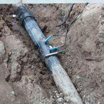 Ремонт трубопровода. Электромуфтовая сварка, в Красноярске