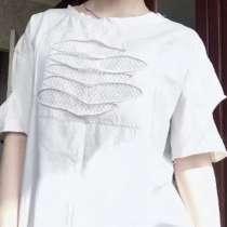 Оверсайз белая футболка, в г.Алматы