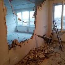 Демонтажные работы, штробление, снос стен, в Тюмени