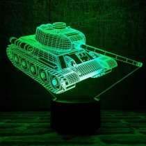 3D светильник танк Т-34, в Москве
