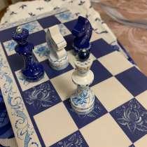 Шахматы Гжель, Хохлома ручная работа, в Москве