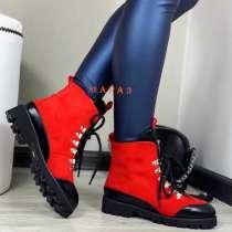 Ботинки Зима 37-37,5 красные, в Красноярске