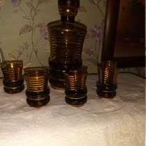 Винтажный графин с пятью бокальчиками, в Королёве