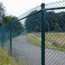 Забор из сетки-рабица диаметр проволки 1.8мм под ключ вариан, в г.Борисов
