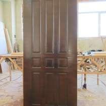 Березовый шпон. Входная деревянная дверь, в Москве