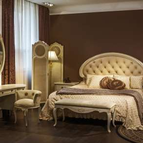 Спальный гарнитур 6 предметов слоновая кость, в Новосибирске