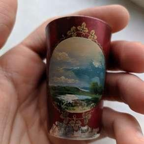 Стопка с позолотой, эмаль, серебро, 875 СССР, в Москве
