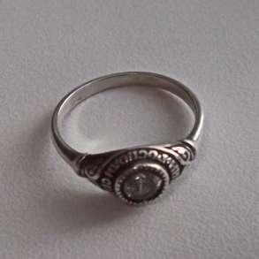 Кольцо серебряное, с надписью, в Омске