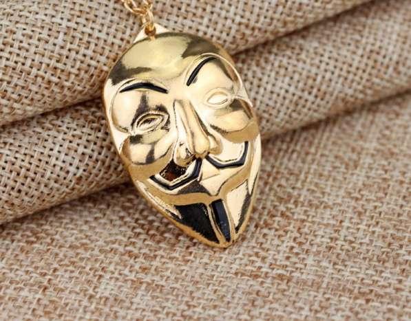 Кулон Вендетта (маска Гая Фокса) и цепочка в подарок