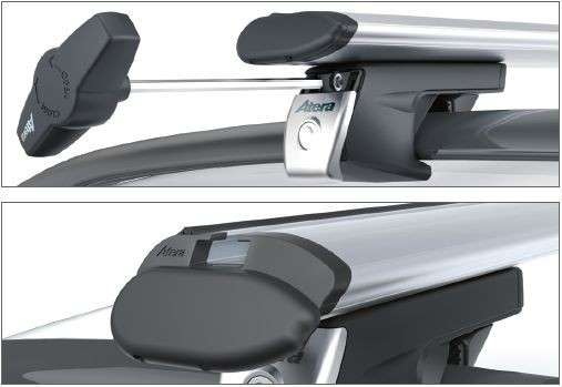 Багажник на рейлинги аэродинамический, Atera Aero, как Thule