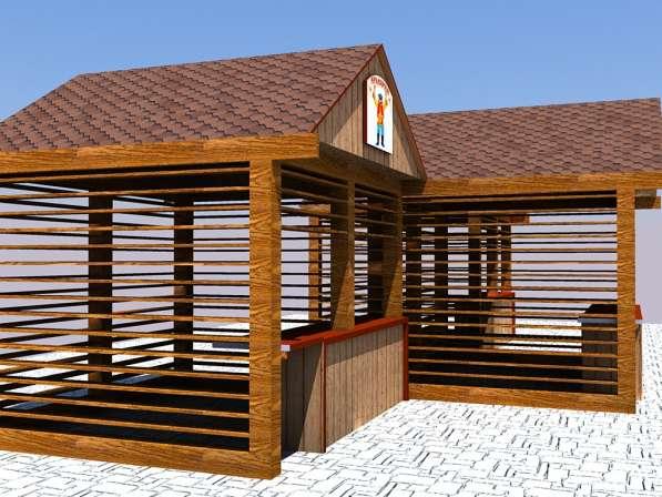 Изготавливаем деревянные ярмарочные домики в Ростове-на-Дону