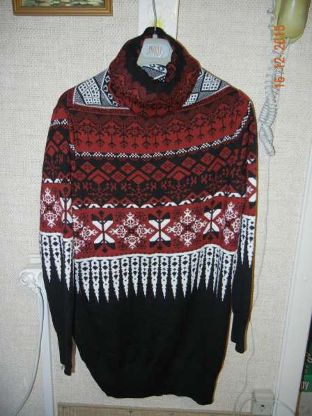 Длинный свитер с орнаментом