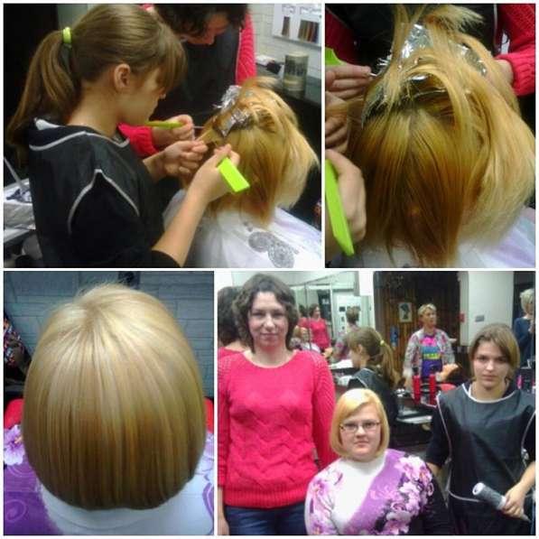 Курс повышения парикмахеров, практика на моделях Домодовская