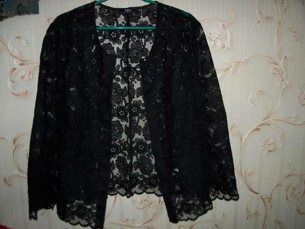 Кардиган гипюровый черного цвета, размер 48-50