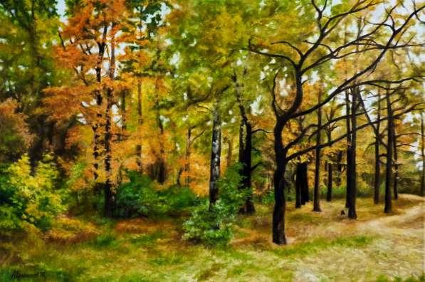 """Картина маслом """"Осенний вальс"""""""
