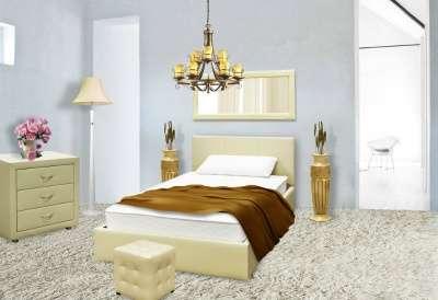 Шикарная кровать из экокожи