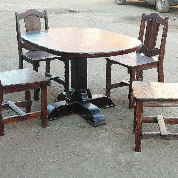 Барный Комплект мебели 5 ед. Массив лиственницы