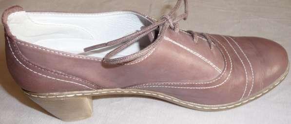 Туфли-полуботинки, натуральная кожа, р-38