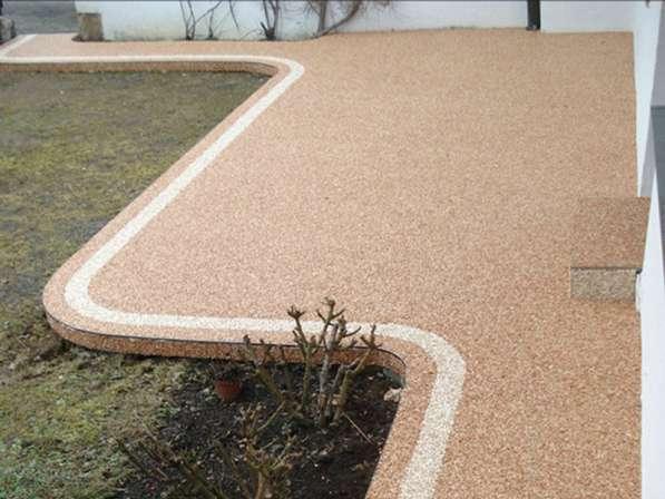 Каменный ковер – наливной пол из цветного песка и гальки для в Екатеринбурге фото 4