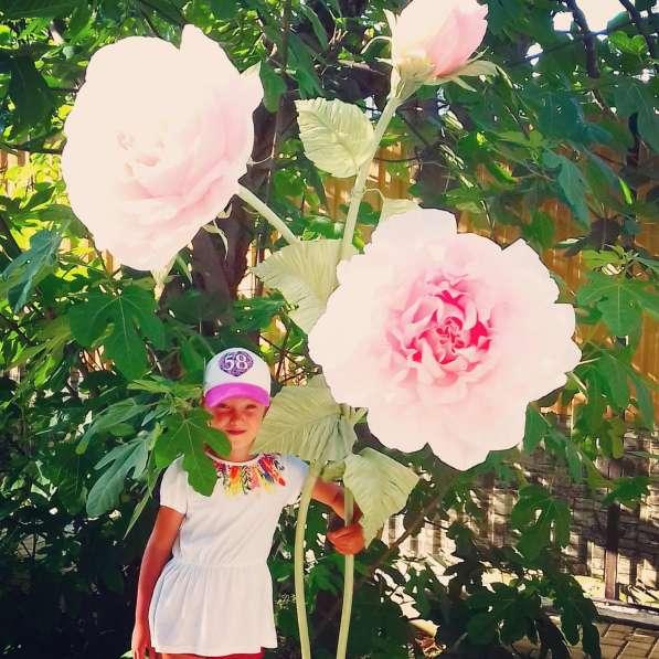 Праздничный декор в аренду, на заказ. Ростовые большие цветы в Сочи фото 7