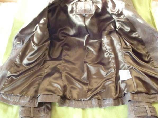 Женская кожанная куртка-френч(привозная)