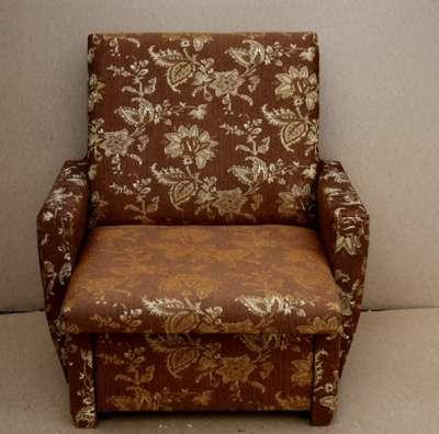 Кресло-кровать гобелен коричневый