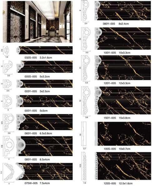 Декоративный багет, плинтусы (фризы) из ПВХ шириной 120мм