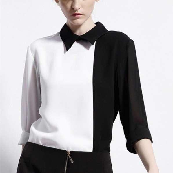 Рубашка женская черно-белого цвета