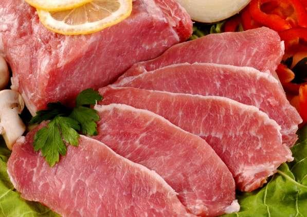 Мясо говядины, свинины, курицы, индейки, суб. продуктов