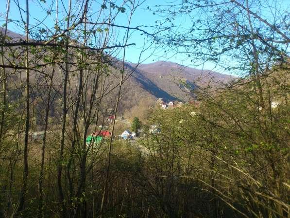 Вид на горы и речку