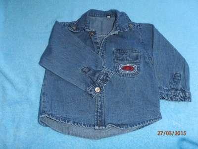 рубашка джинсовая 29 разм