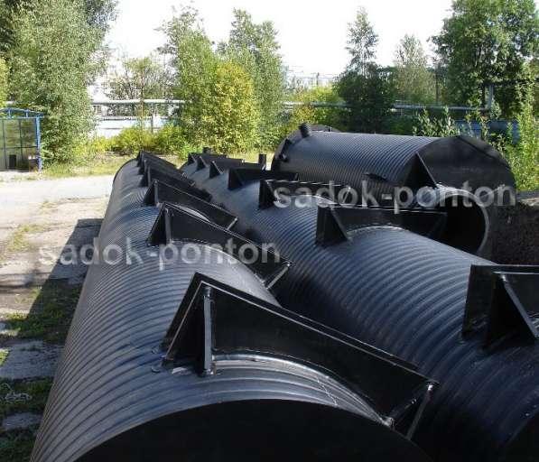 Трубные понтоны диаметром от 800 мм с крепежом в Санкт-Петербурге