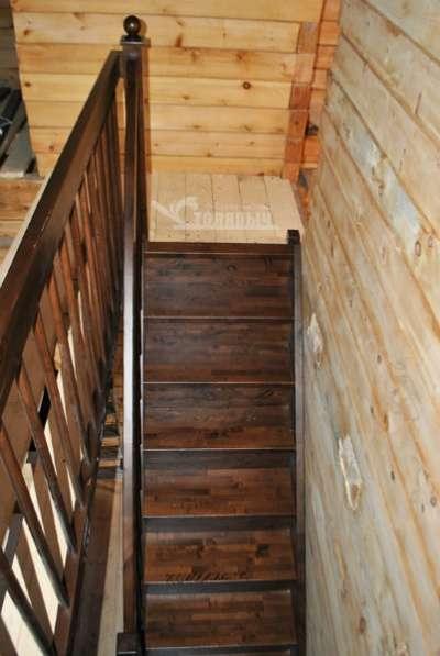 Деревянная лестница Фабрика лестниц столярыч из березы и сосны