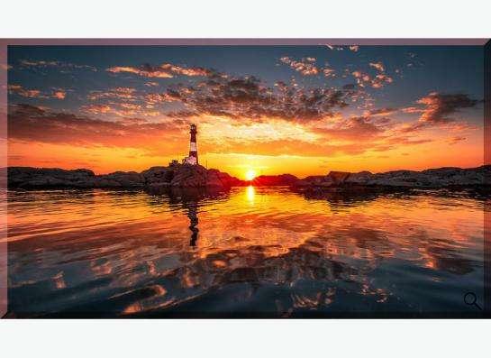 """Картина на холсте """"Восход на маяке"""""""