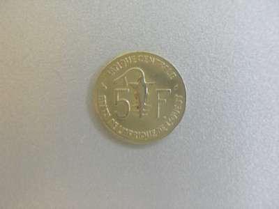 Монета 5 Франков 1982 год Западная Африка