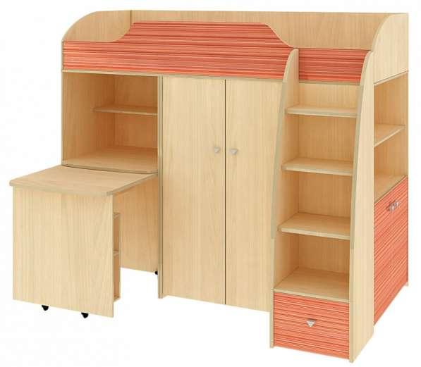 Кровать- чердак детская совмещенная со столом и шкафом